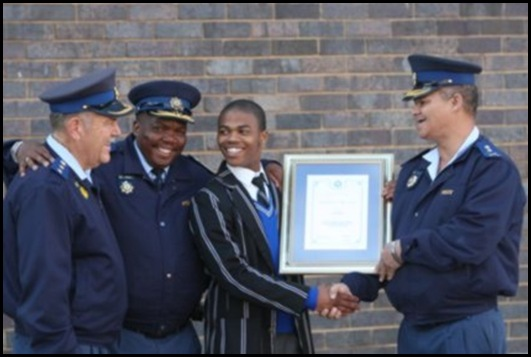 Pupil Eric Baatjies chased armed attacker of fellow pupil Mount Road SAPS picture