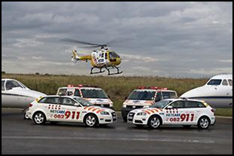 Medicare911 emergency teams have paramedics on board