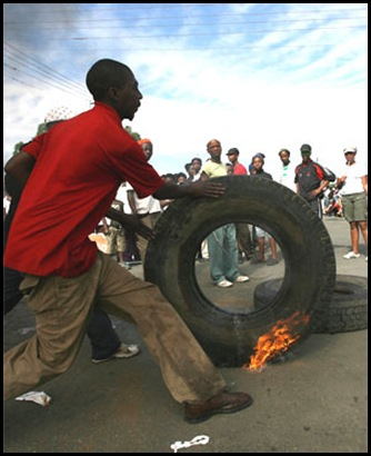 Sakhile Standerton anti-corruption protests now enter their second month Oct 13 2009