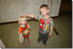 Afrikaner children in squatter camp2 Oct 2009
