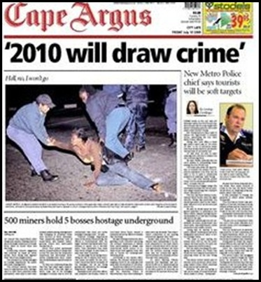 WC2010 will draw crime top Cape Town cop warns