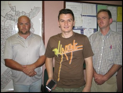 Police Free State Recovered Vehicle Isp Peter Louw; Marc Cornelius; Const Paul Wooityczka Nov42009 SAPS