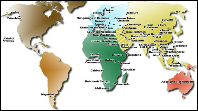 UNPO Nations and Peoples map shows Afrikaners as members