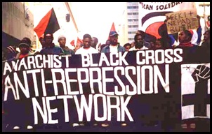Anarchist Black Cross Anti-Repression Network ZABALAZA NET uses African Sign writing