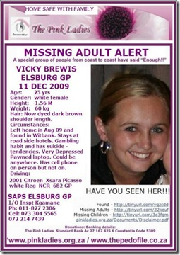 Brewis Vicky missing 11D