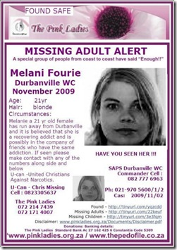 Foure Melani Nov2009 Missing Durbanville 21 drugaddict