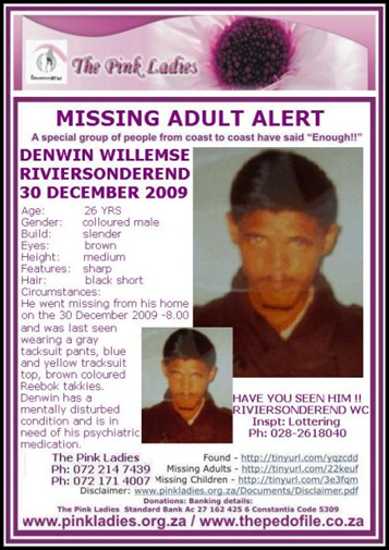 Willemse Denwin Missing Riviersondereind 30Dec2009
