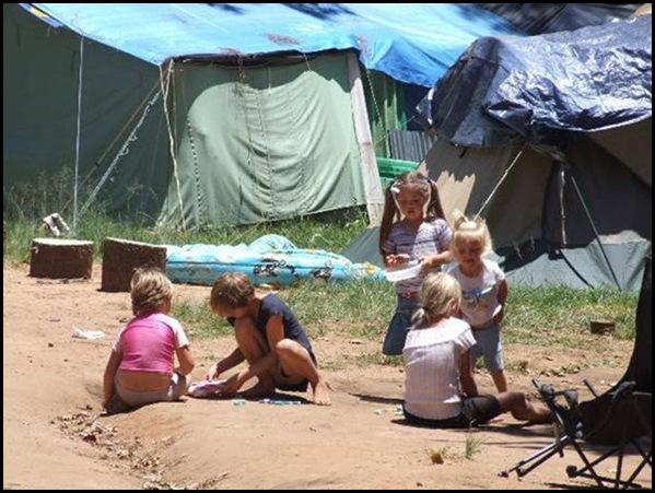 AfrikanerPoor children in tent towns Joppie Ruach DisMosOnsEieMenseDieFacebook