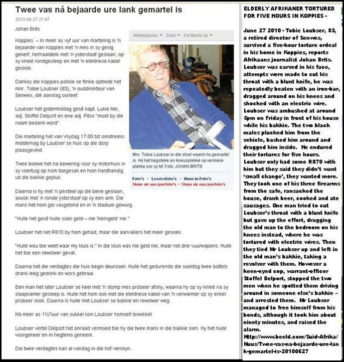 Loubser Tobie tortured 5hrs Koppies home June272010 Johan Brits Beeld