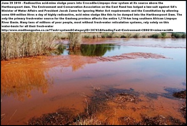 Acid Mine Drainage outflow from Hippo Dam Puc Lefterink