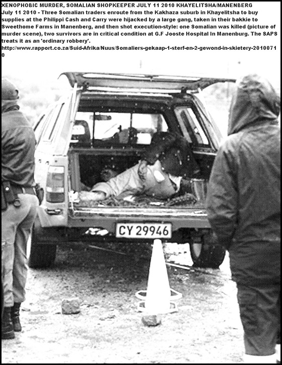 Somalian murdered Manenberg Xenophobia Rapport Yunus Mohammed Pic July102010RAPPORT