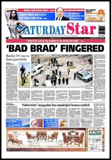 Aurora gold mine illegal miner raid security chief Bad Brad Wood fingered