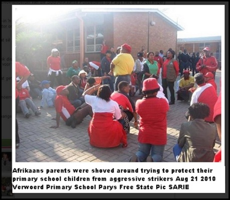 Afrikaans Primary School occupied by striking teachers Aug 21 2010
