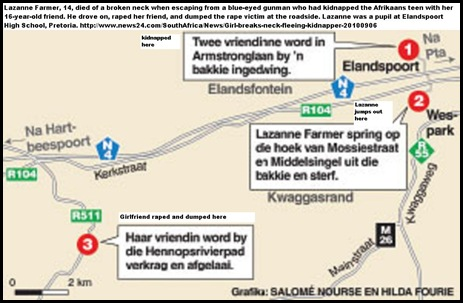 Farmer Lazanne NIGHTMARE KIDNAPPING ROUTE SEPT62010 PRETORIA
