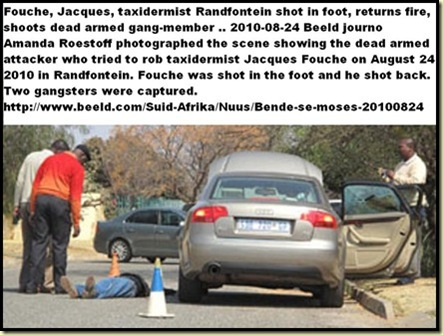 Fouche Jacques Randfontein Aug242010 shoots dead armed attacker pic Beeld Amanda Roestoff