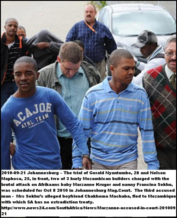 Kruger Baby Marzanne killers in court Sept 20 2010 Beeld