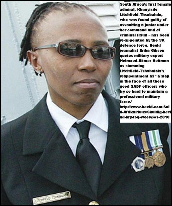 Litchfield_Tshabalala senior-admiral guilty of fraud but gets reappointed by SADF hq