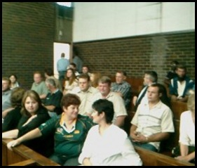 Ratte court appearance Witbank friends supporters Oct 11 2010 DAN ROODT PIC