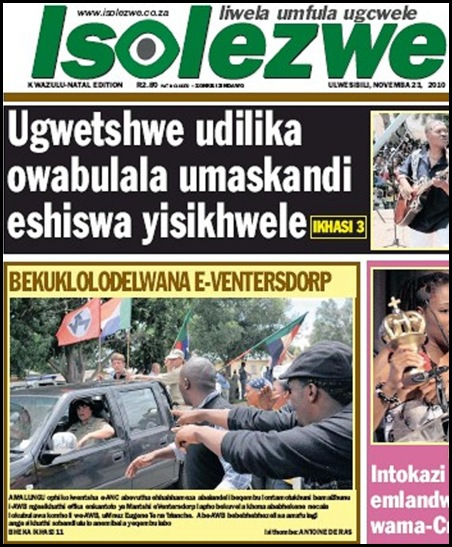 AntiAfrikanerReportsAboutTerreblancheMurderBLACK PRESS ISOLEZWE NOV232010