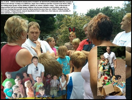 Hofmeyr Steve visiting poor Afrikaner kids made homeless by ANC-REGIME LAWS
