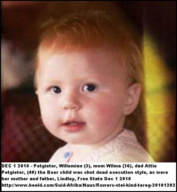 Potgieter Willemien 3 massacred on Lindley farm execution style Dec12010