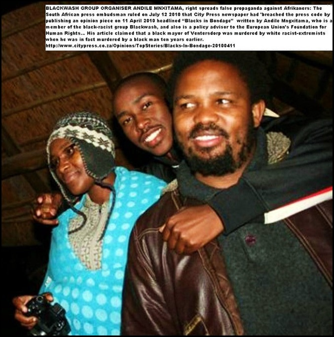 Mnxitama Andile Blackwash and Human Rights Foundation guilty of racist incitements against Afrikaners