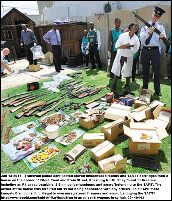 ARMS CACHE BOKSBURG 11 ILLEGAL RIFLES AMMO BOKSBURG NORTH JAN132011