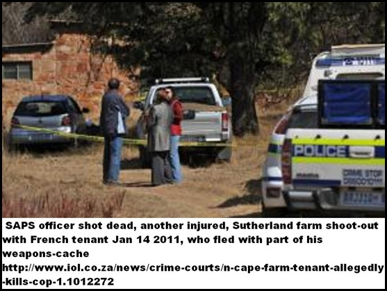 SUTHERLAND SAPS SHOOTOUT WITH FRENCH FARM TENANT JAN142011