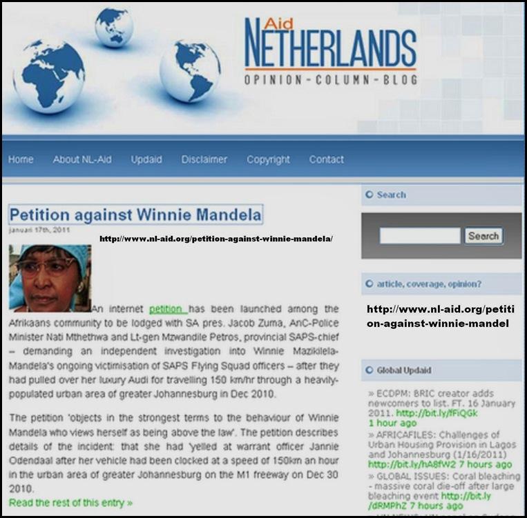 Mandela Winnie Petition www nl aid org petion against winnie mandela Jan172011