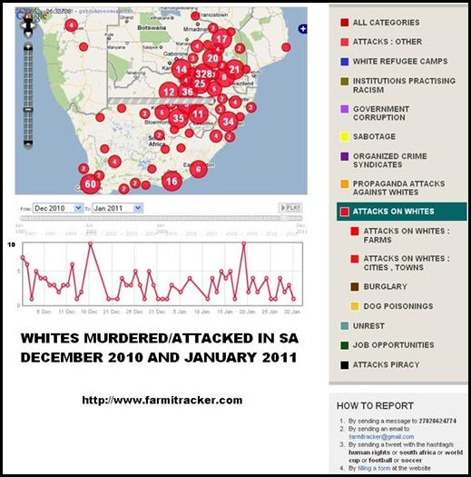 WHITES MURDERED IN DEC2010 AND JAN2011 FARMITRACKER REPORT