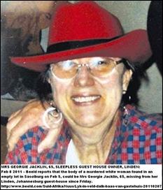 Jacklin Mrs Georgie 65 SleepersGuestHousemurderedFeb72011