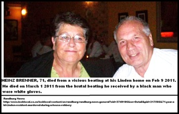 Brenner Heinz dies in March 2011 from Linden attack