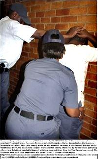 VanRooyen Koos RandfonteinFarmerMurderedMarch72011POLICEARRESTSUSPECTS