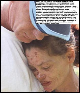VanNiekerk Jan and Belinda TWO TODDLERS BURNT TO DEATH Lydenburg NO FIRETENDER