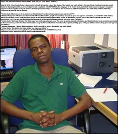 ONE BULLET ONE WHITE INFANT SAFMARINE ANC-REGIME WORKER