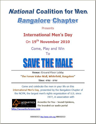 International Men's Day 2010 at Bangalore