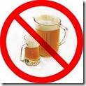 prohibido beber alcohol