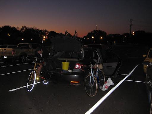 unpacking bikes