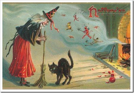 WitchCatPostcard