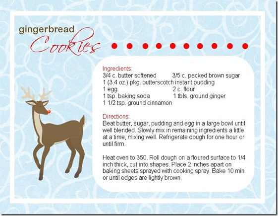Simple Gingerbread Cookie Recipe