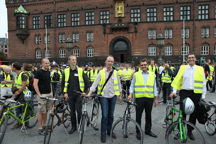 ALGO organizers with minister Helge Sander and vice-chancellor Mads Tofte