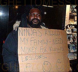 美国乞丐要饭的水准