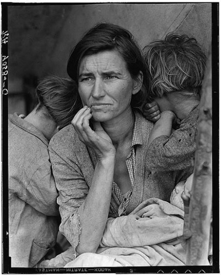 Polaroid Dorothea Lange