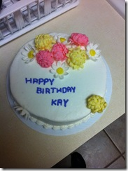 Kay's Birthday Cake 4-25-11