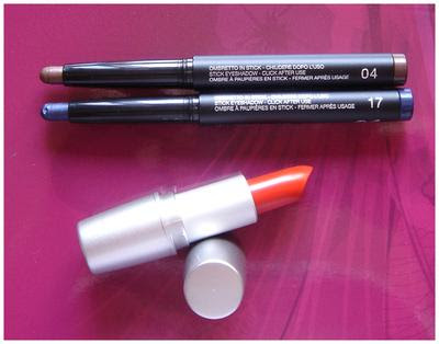 Acquisti Kiko: long lasting stick eyeshadow 04-17; mat lipstick 288