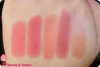 I miei rossetti: Arancio/Corallo - swatches