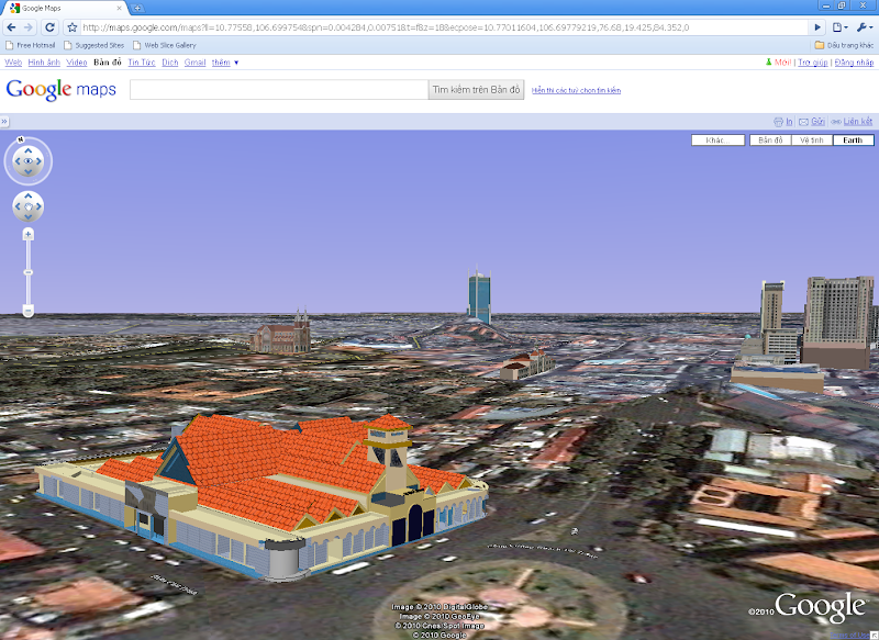Xem bản đồ 3D trên Google Maps