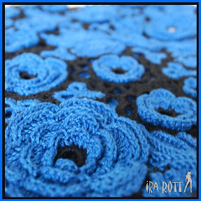 Fashion Crochet Creations By Ira Rott: Custom Made Blue Irish Crochet ...