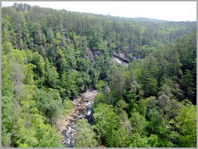 The Tallulah Gorge and River as seen from the Bridge