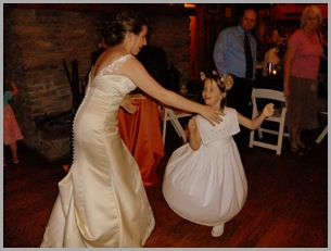 Aunt Mary Dancing with Flower Girl Catia